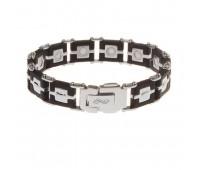 Мужской силиконовый браслет ProLife for men цвет: Черный, 21см. / Магнитные браслеты