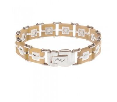 Мужской силиконовый браслет ProLife for men цвет: Карамель, 21см. / Магнитные браслеты