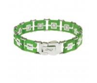 Мужской силиконовый браслет ProLife for men цвет: Зеленый, 21см. / Магнитные браслеты