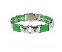 Женский силиконовый браслет ProLife for women цвет: Зеленый, 19см. / Магнитные браслеты