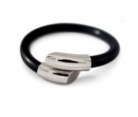 Силиконово-металлический браслет ProStyle Silver, 19см. / Магнитные браслеты